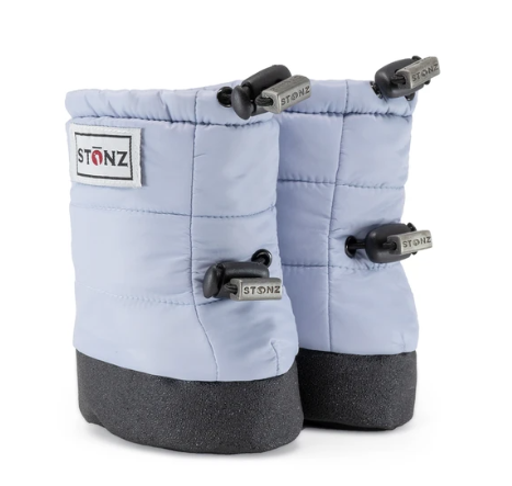 Stonz Winter Baby Puffer Booties - Haze Blue