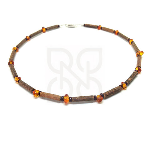 Pure Hazelwood & Baltic Amber Necklace - Child
