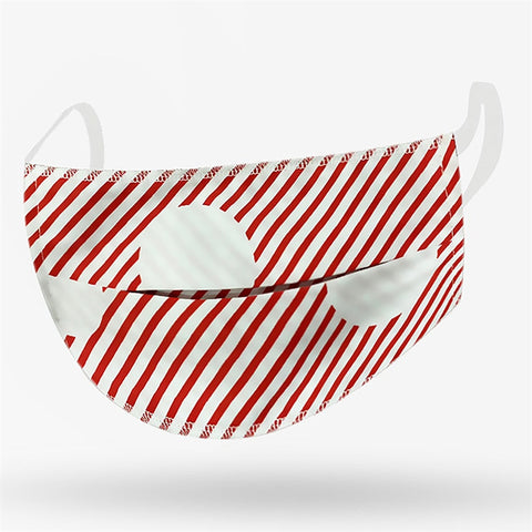 Kushies Adult Washable Face Mask - Red Stripe