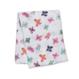 Lulujo Cotton Muslin Swaddle - Butterfly