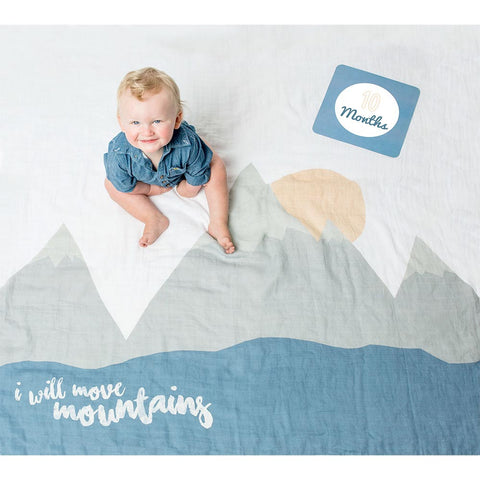 Lulujo Milestone Blanket & Card set