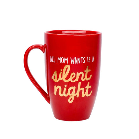 "Pearhead ""All Mama Wants is a Silent Night"" Mug"