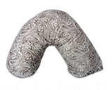 Posh 'n' Plush Nursing Pillow - Minky Fleur Paisley Brown PROMO