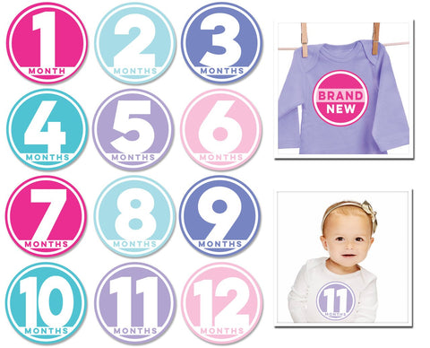 Sticky Bellies Modern Miss: newborn -12 months