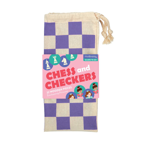 Mudpuppy Checkers and Chess Games to Go