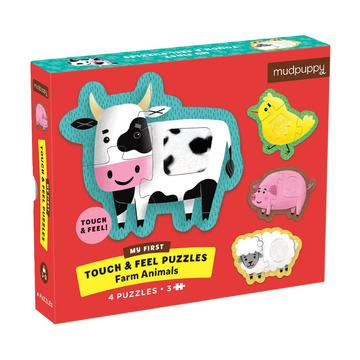 Farm Animals My First Touch & Feel Puzzles