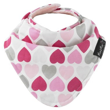 Mum2Mum Hearts - Fashion bandana bib
