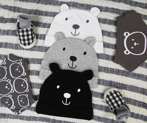 Kushies Baby Hat - Bear