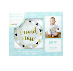 Pearhead First Year Belly Stickers - Gold Foil
