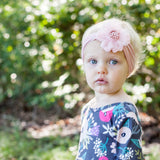 Baby Wisp Nylon Headwrap w/Flower