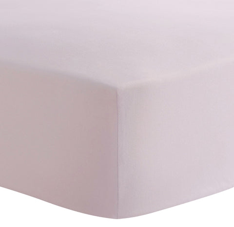 Kushies Fitted Crib Sheet - 100% Cotton Percale Pink