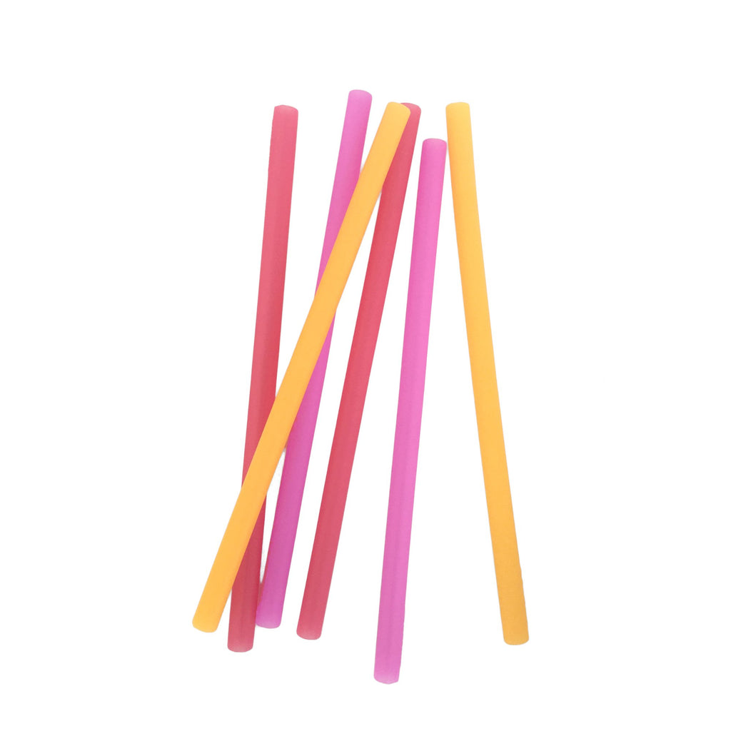 Reusable Silicone Straws 6pk Ombre Blue Silikids Silikids