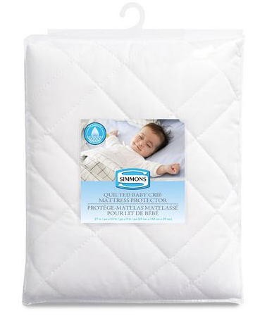 Simmons Quilted Baby Crib Mattress Protector