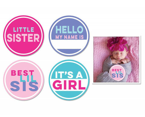 Little Sister Stickers 4 pk
