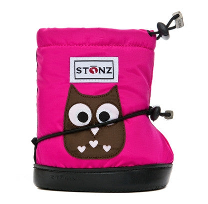 "Stonz ""Owl Fuchsia"" Toddler Booties"