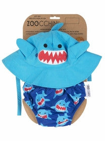 Zoocchini Swim Diaper & Hat Set - Shark