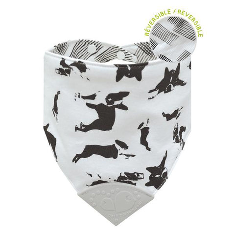 Perlimpinpin Bubbly Teething Bib - Dogs/Scratches