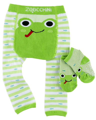Zoocchini Leggings & Socks - Flippy the Frog