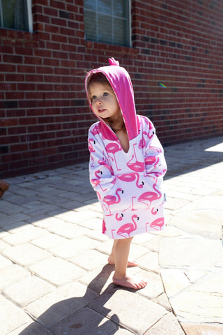 Zoocchini Baby Terry Swim Cover-up - Flamingo