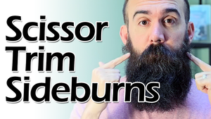 How to Scissor Trim Sideburns