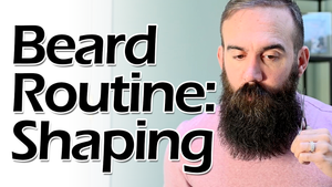 Beard Routine: Scissor Shaping