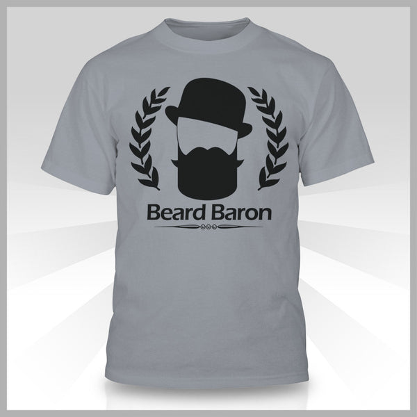 The Beard Baron Premium T-Shirt - Classic Gray
