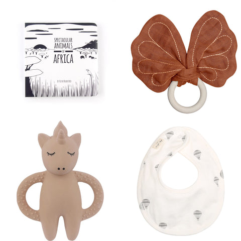 selection of stocking fillers for baby
