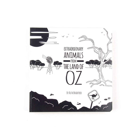 Extraordinary Animals from the Land of Oz - Black and White Baby Book