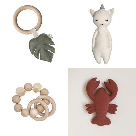 selection of baby gifts for under £15