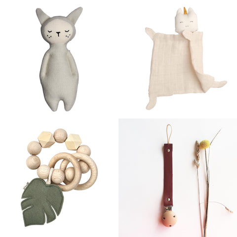 selection of baby gifts for under £20