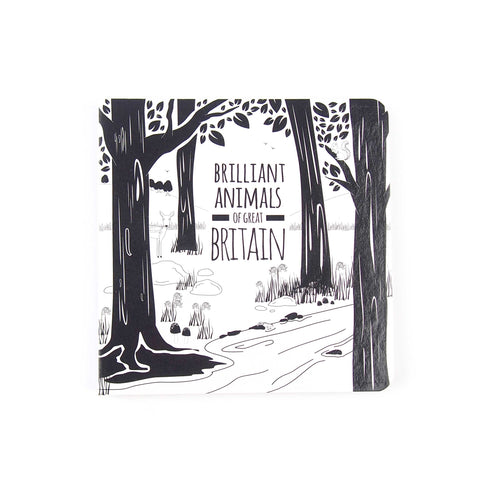 Brilliant Animals of Great Britain - Black and White Baby Book