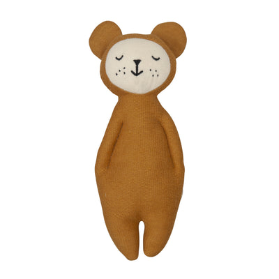 Fabelab Soft Bear Rattle in Ochre
