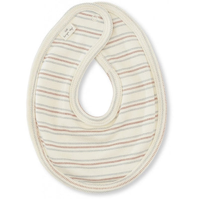 Cotton bib with vintage stripes.