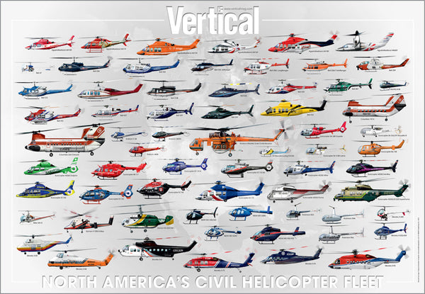 North America's Civil Helicopter Fleet Poster - 2013
