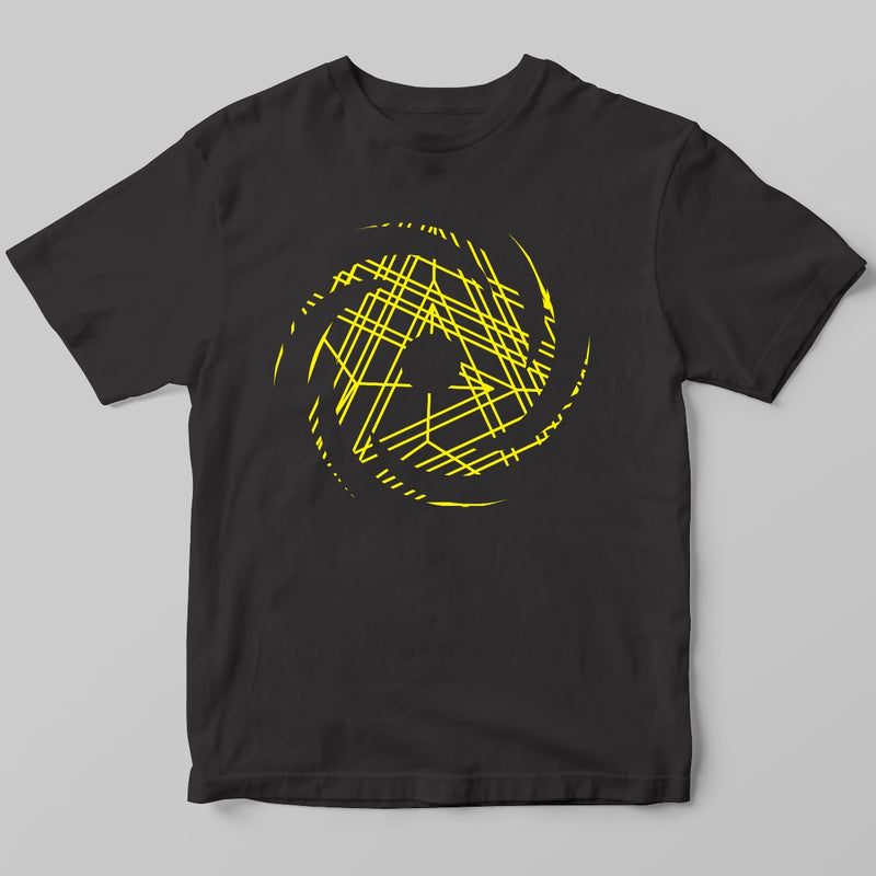 Yellow Black Hole Logo T-shirt