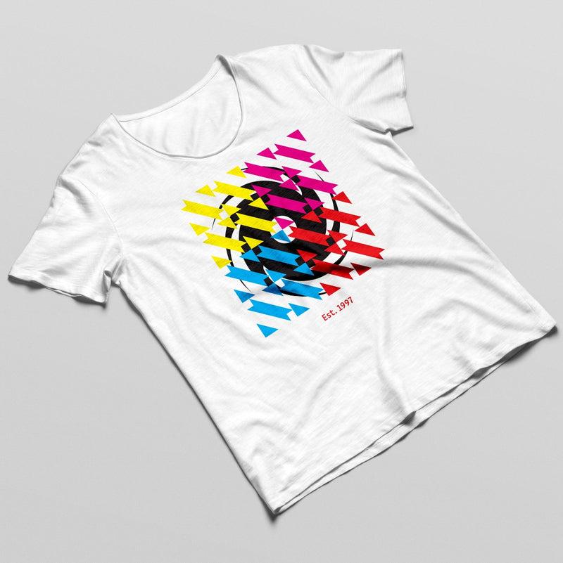 Black Hole White Square Logo T-shirt