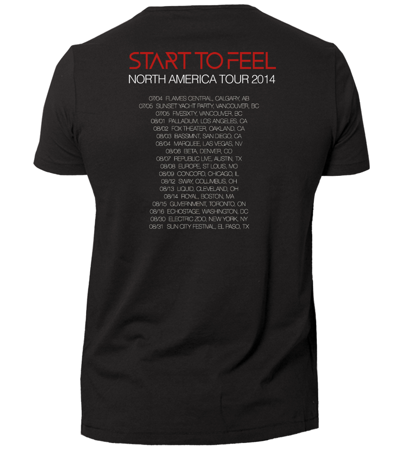 Cosmic Gate - Start To Feel Tour T-Shirt