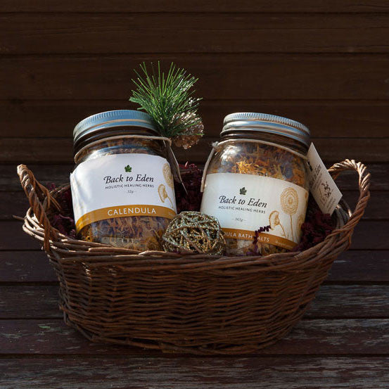 BEAUTY SKIN DUO - Calendula Herbal Bath Salts + Tea