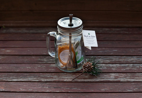 Mason Jar Tea Cup To Go Gift Set