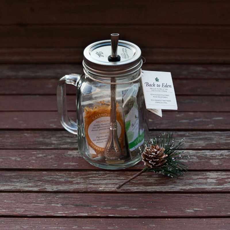 Mason Jar Tea Filter Cup to Go- Gift Package