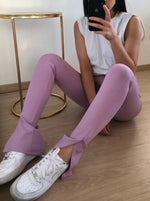 Split legging - Lila