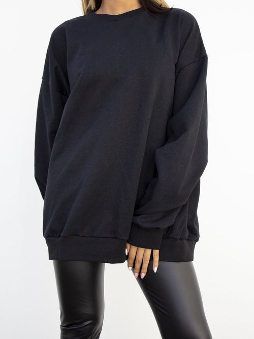 Dor oversized sweater - Zwart