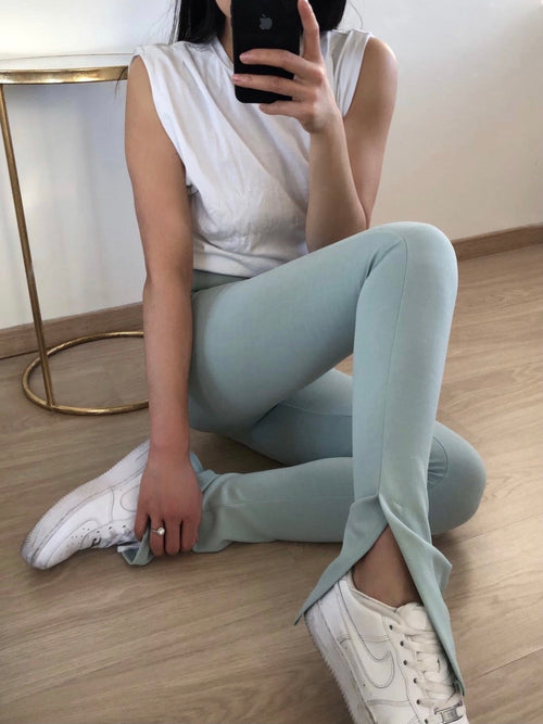 Split legging - Mint groen