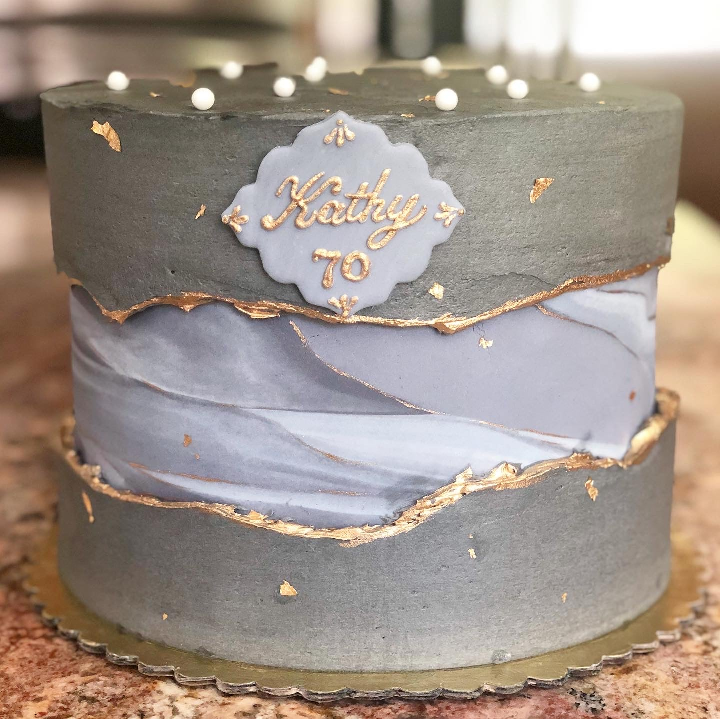 Marble Fault Line Cake