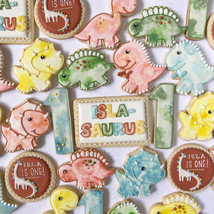 Baby Dinosaur Sugar Cookie Set
