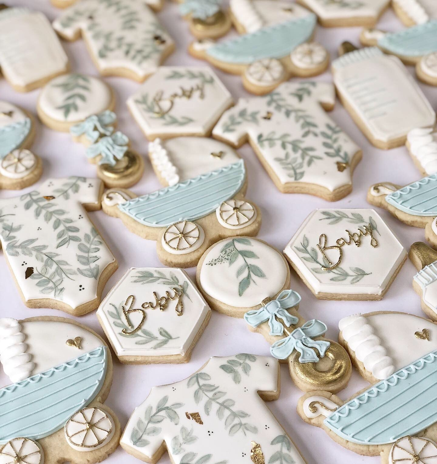 Hand Painted Baby Shower Sugar Cookie Set