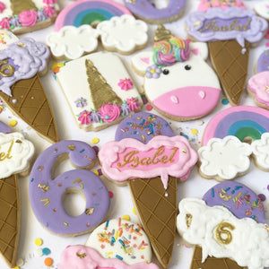 Ice Cream & Unicorns Sugar Cookie Set