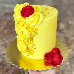 Princess Belle Smash Cake