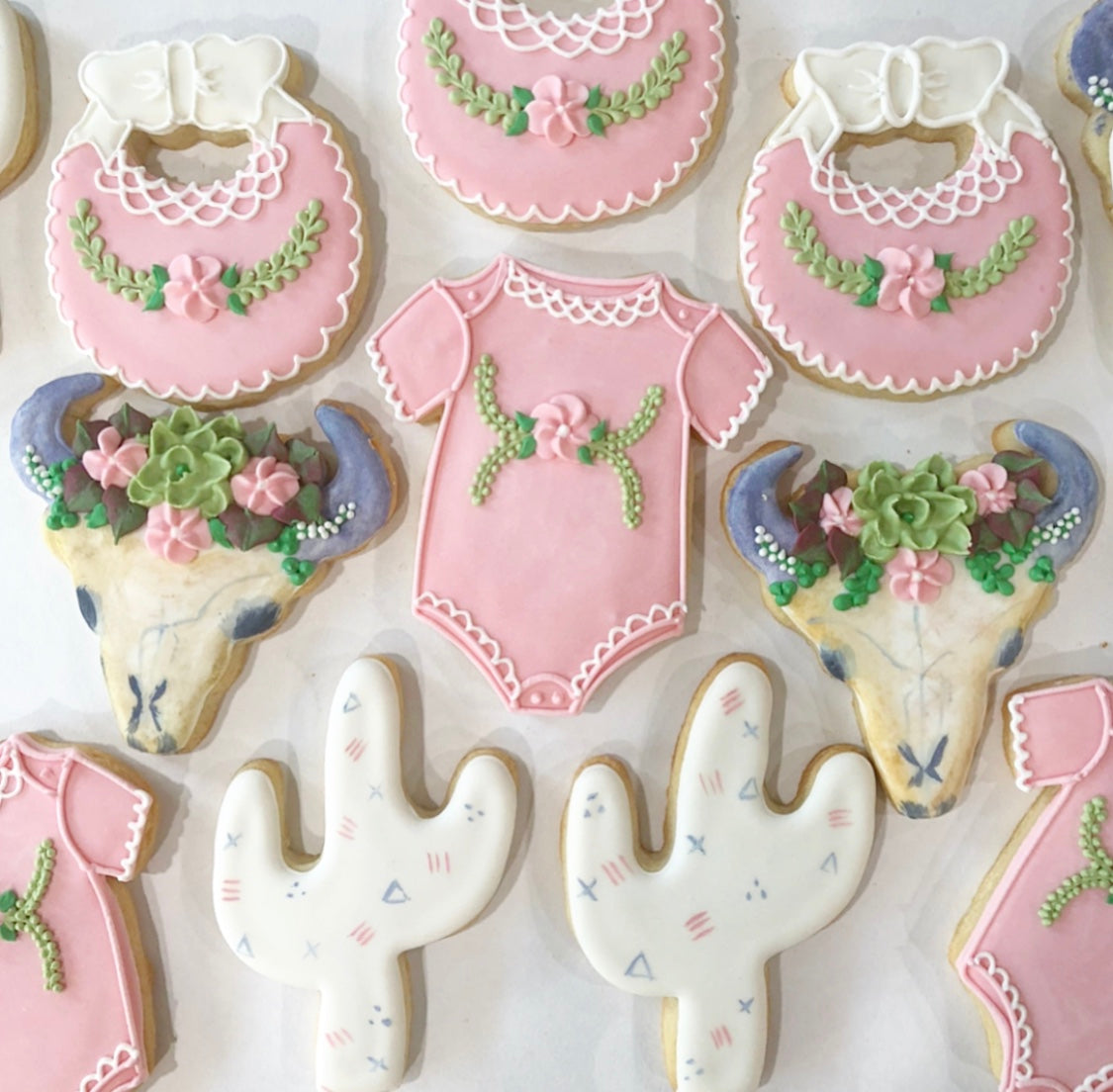 Western Baby Shower Sugar Cookie Set