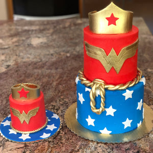 Wonder Woman Smash Cake